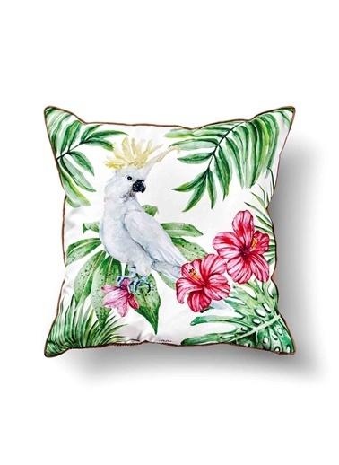 The Mia Tropik Yastık - Parrot 50 x 50cm Renkli